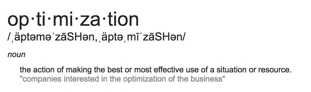Optimization Definition